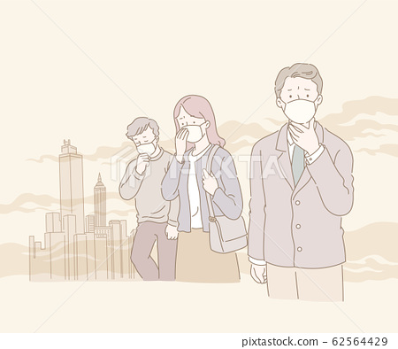 People suffering from smog 62564429