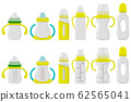 Illustration on theme big colored kit baby milk in 62565041