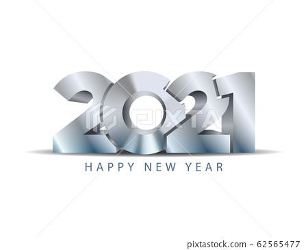 2021 happy new year vector concept. Steel texture 62565477