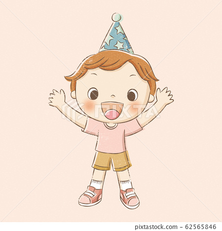 Boy in party hat 62565846