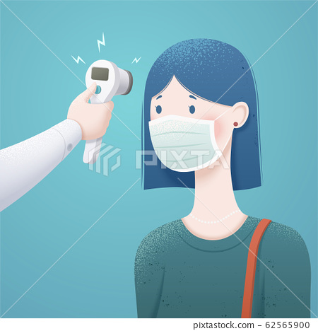 Woman measuring body temperature 62565900