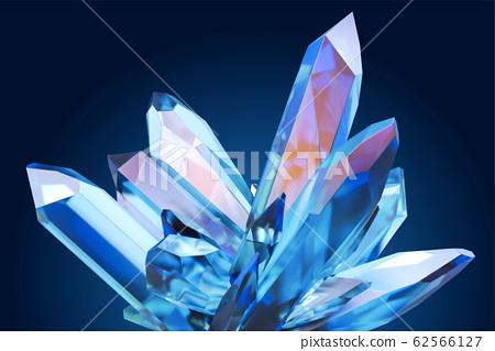 Beautiful blue clear crystal 62566127