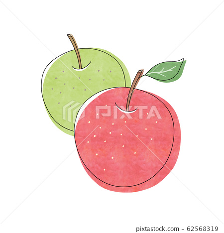 Red apples and green apples 62568319