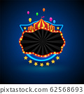 Banner retro light night 62568693