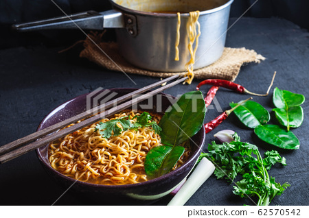 Spicy Tom Yum Noodles 62570542