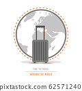 time to travel around the world with suitcase 62571240