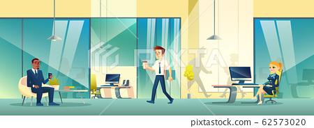 Modern reception area interior in business office. 62573020