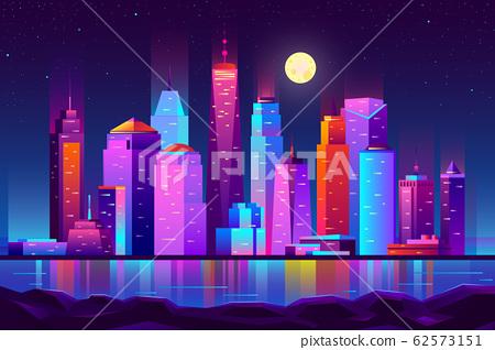 Night city futuristic landscape background 62573151