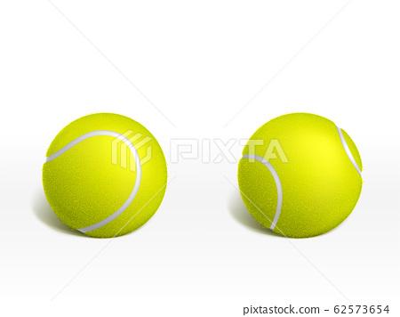 Tennis balls on white background realistic 62573654