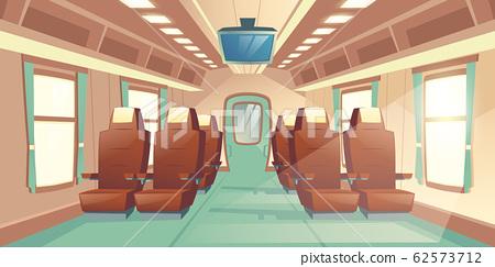 train cabin. Salon in railway carriage 62573712
