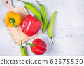 Fresh paprika on the wooden background 62575520