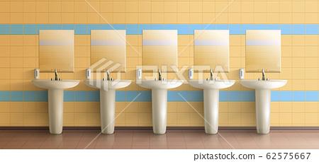 Public toilet interior realistic mock-up 62575667