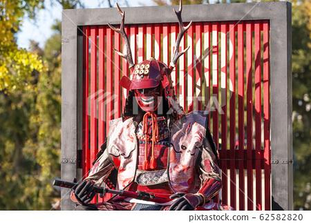 盔甲頭盔軍閥盔甲戰國時期圖像素材 62582820