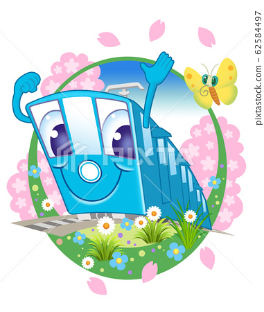 기차 캐릭터 일러스트 62584497