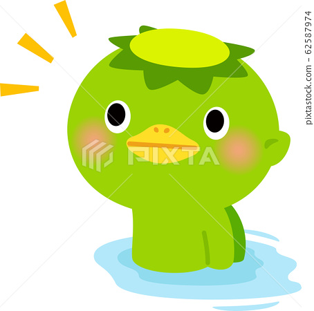 A cute kappa who comes out of the water 62587974