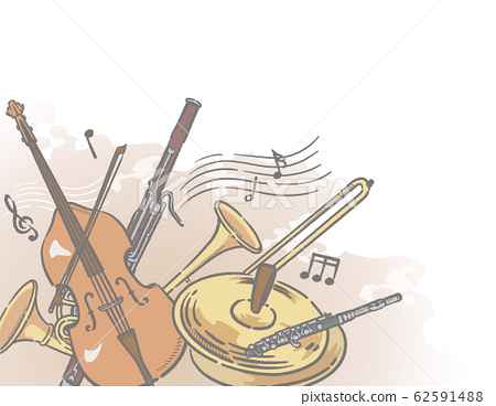 Orchestra musical instruments theme background material 62591488