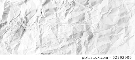 crumpled white paper textured material wallpaper background vector 62592909