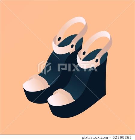 Modern fashion elegant platform sandals in 62599863