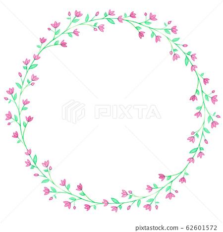 Purple Watercolor Floral Wreaths 62601572