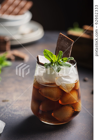 A glass of cold summer coffe 62602333