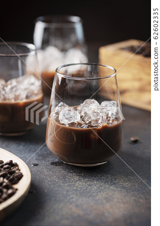 creamy ligueur with coffee 62602335