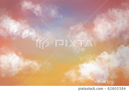 Cloud on the sky during sunset. Digital painting 62603384