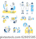 Doctor and patient image set 62605585