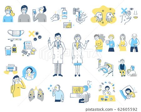 Infectious disease image 2 set 62605592
