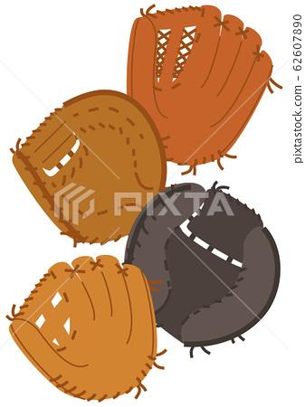 야구 글러브 4 종 세트 62607890