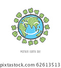 Hand drawn mother earth day. Ecology care and eco friendly concept. 62613513