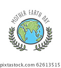 Hand drawn mother earth day. Ecology care and eco friendly concept. 62613515