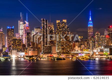 """哈密頓公園的""""紐約""""曼哈頓夜景 62614635"""