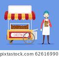 Man Chestnut Cart Illustration 62616990