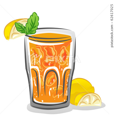 Iced Lemon Mint Illustration 62617025