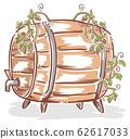Beer Barrel Hops Illustration 62617033