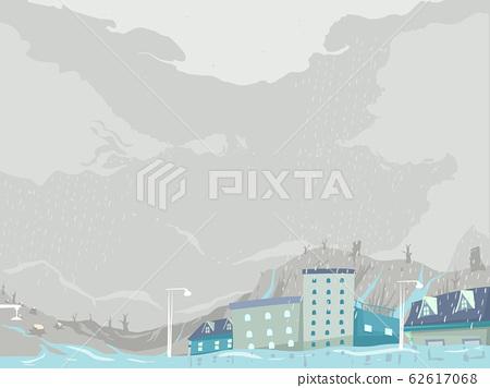 Deforestation Flooding Illustration 62617068