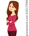 Teen Girl Rude Illustration 62617090