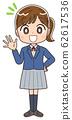 Schoolgirl illustration girl woman junior high school student blazer manga anime 62617536