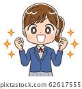 女学生插画女孩女人初中生西装外套漫画卡通 62617555