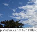 Winter blue sky and white clouds 62619042