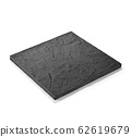 Stylish black square plate used for serving dishes (skipping back, shadow Iki) 62619679