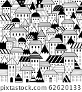 Various hand drawn doodle cartoon houses style 62620133