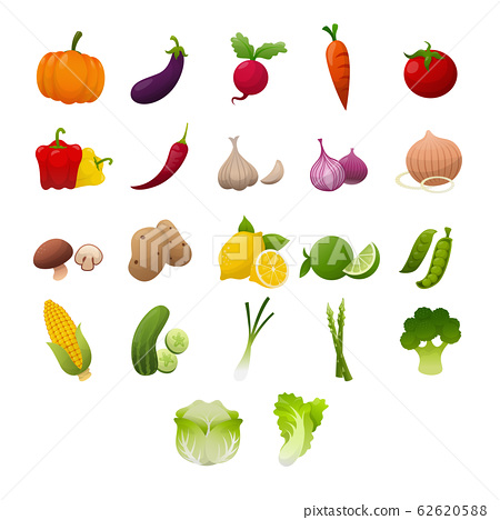 Fresh Vegetables Set 62620588