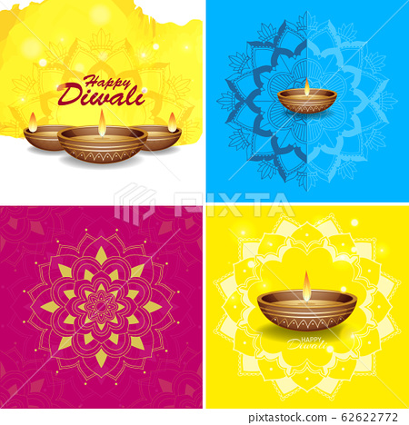 Background template with mandala designs 62622772