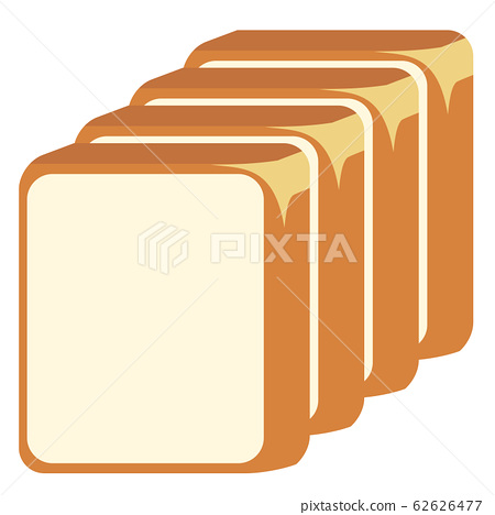 4 slices of cute bread 62626477