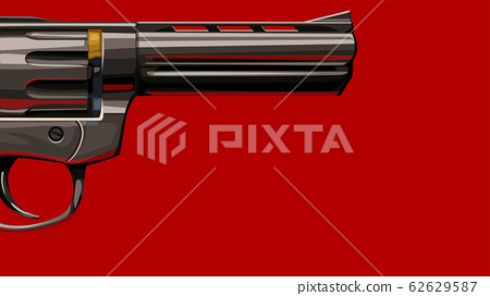 new classic revolver on red 62629587
