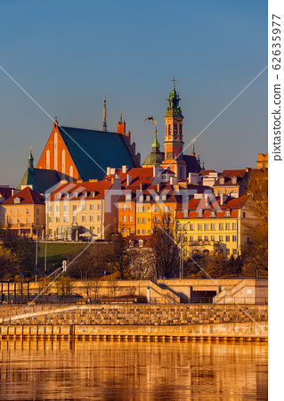 Warsaw City at Sunrise in Poland 62635977