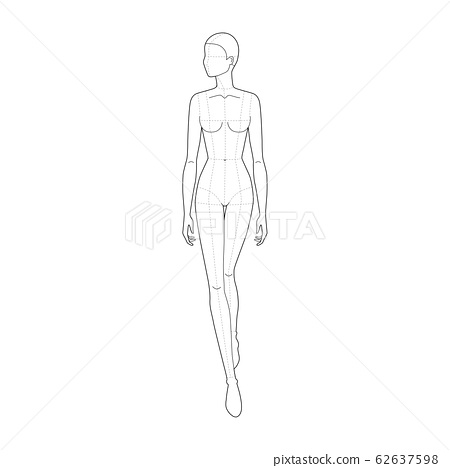 Fashion template of walking women.  62637598