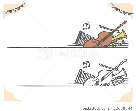 古典音樂主題標籤和橫幅材料 62639344