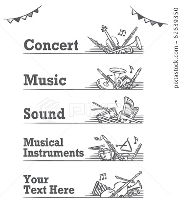Classical music theme labels and banner materials 62639350